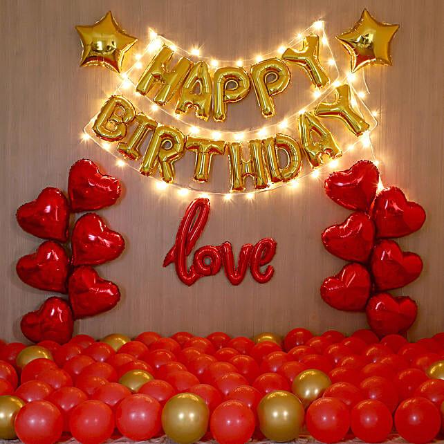 Golden Themed Birthday Magical Balloon Decor
