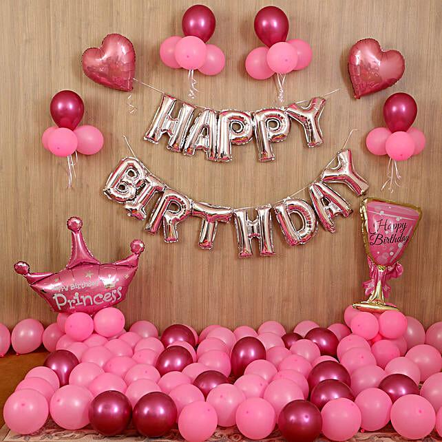 Princess Birthday Pink Decor