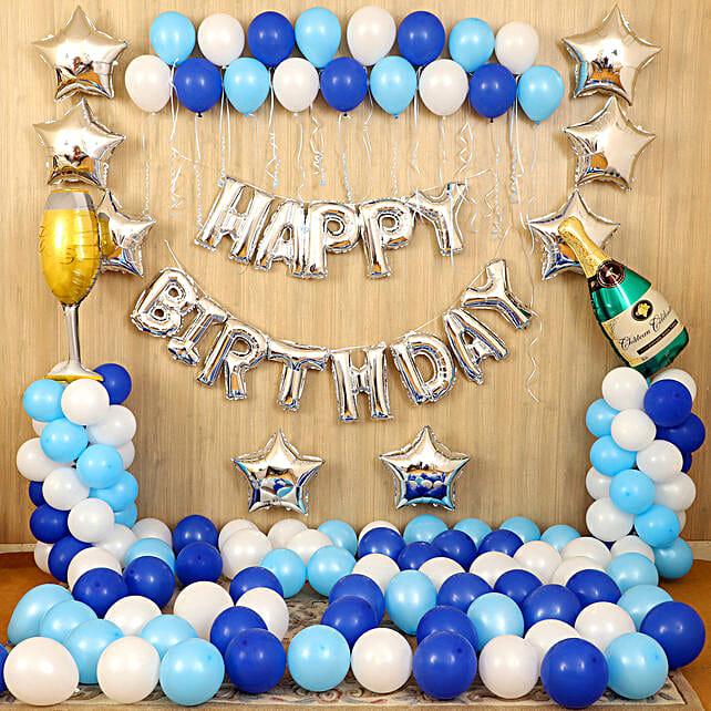 Blue Themed Birthday Decor