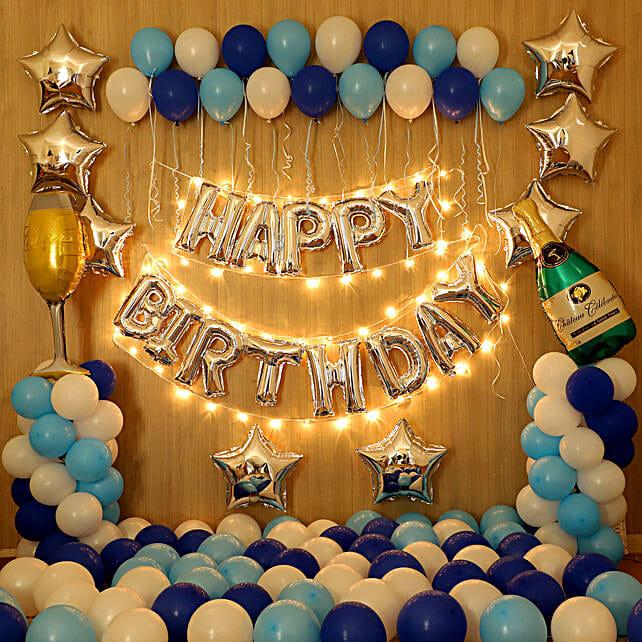 Blue Themed Magical Birthday Decor