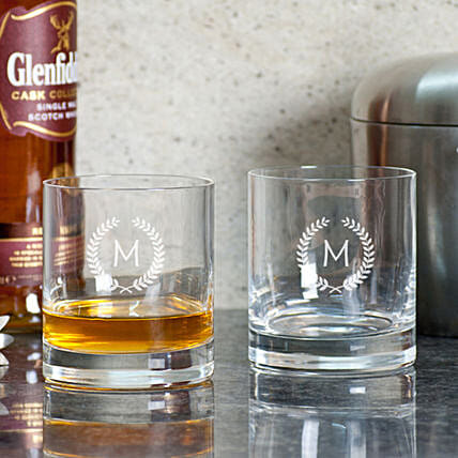 Personalised Whiskey Glasses Set Online