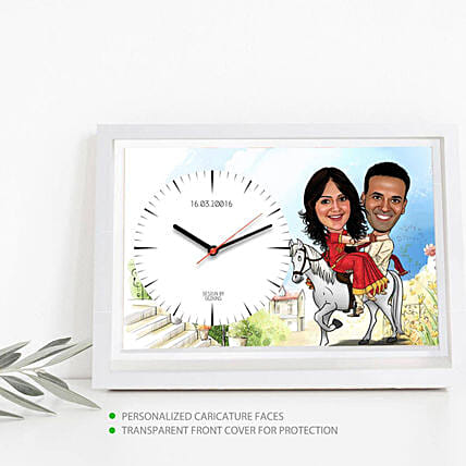 Online Personalised Couple Wall Clock
