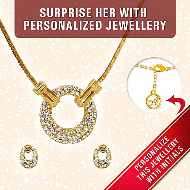 pendant set for girlfriend:Personalised Jewellery