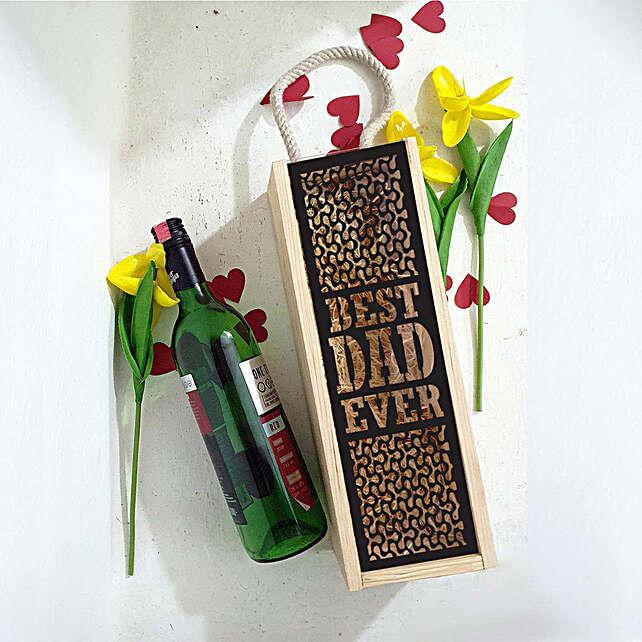 printed message personalised wine box