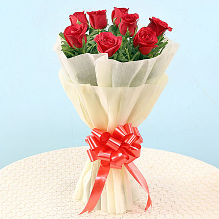 Classy 8 Red Roses Bouquet