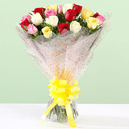 Dazzling Bouquet Of Mixed 24 Roses
