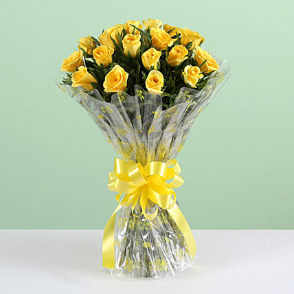 Happiness Bunch Of Yellow Roses