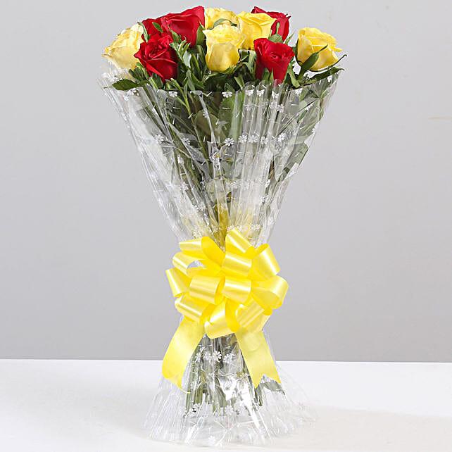 Mixed 10 Elegant Roses Bouquet