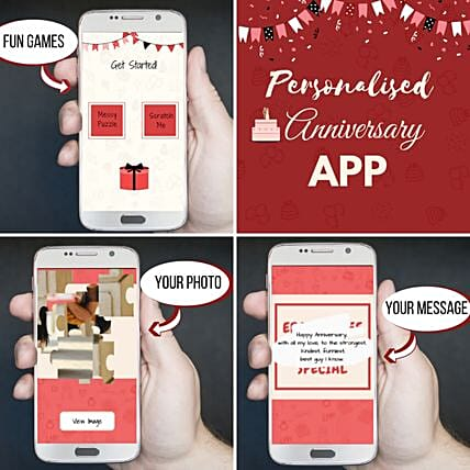 Customised Mobile App For Anniversary