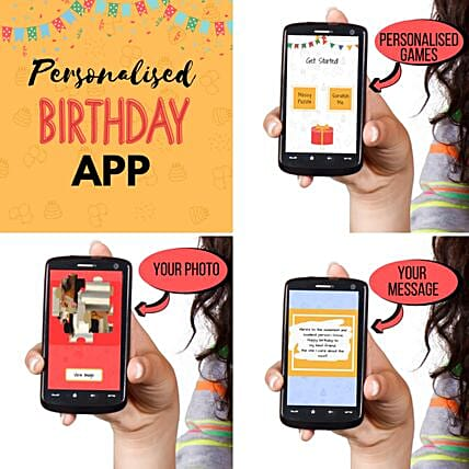 Customised Mobile App For Birthday