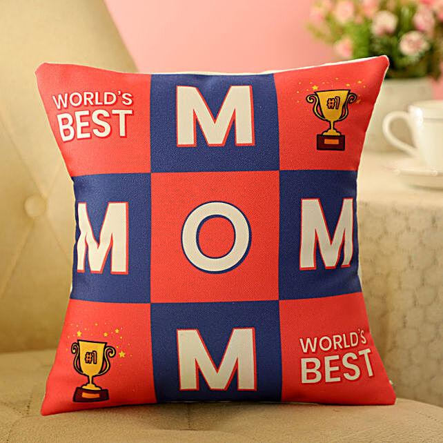 Worlds Best Wonderful Mom Cushion