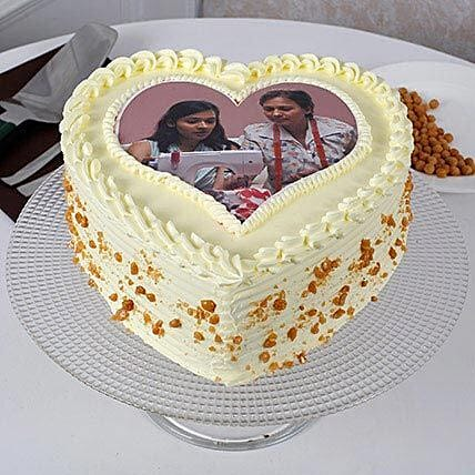 Butterscotch Photo Cake For Mothers Day Half Kg Eggless
