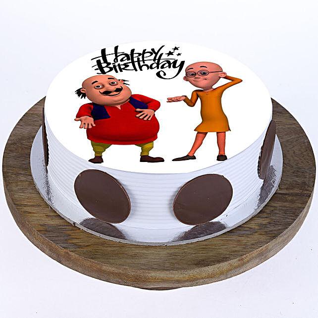Motu Patlu Butterscotch Cake Half Kg