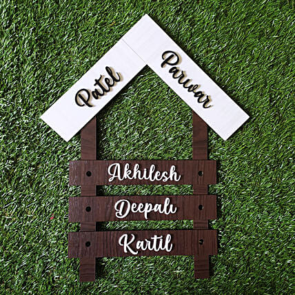 Personalised Family Name Plate Gift Designer Name Plate For House Ferns N Petals