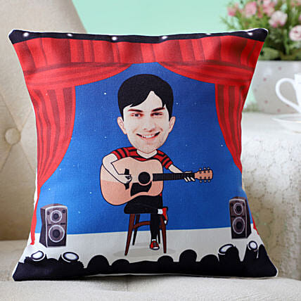 Personalised Musician Caricature Cushion