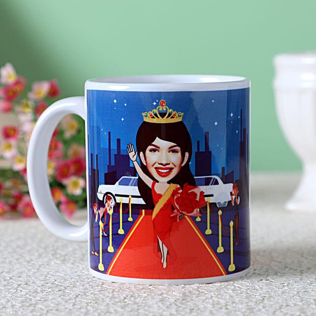 Personalised Red Carpet Caricature Mug