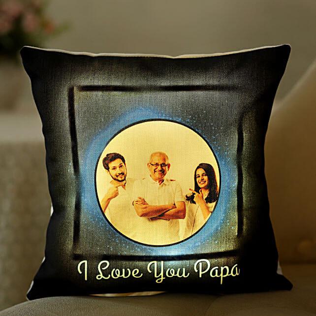 Love You Papa Personalised LED Cushion