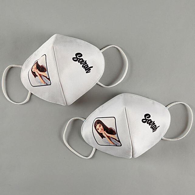 Personalised White Masks:Personalised Face Masks