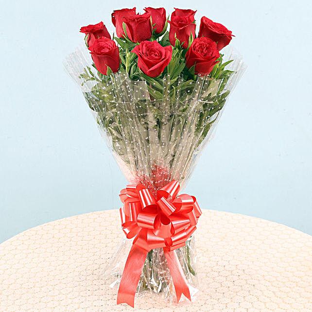 Classy Elegant Red Rose Bouquet