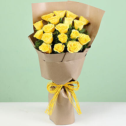 Admirable Yellow Roses Bouquet
