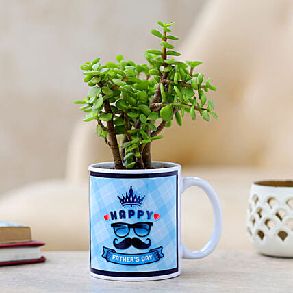 Jade Plant In Fathers Day Mug