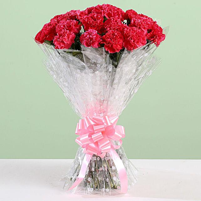 Beautiful 24 Pink Carnation Bouquet