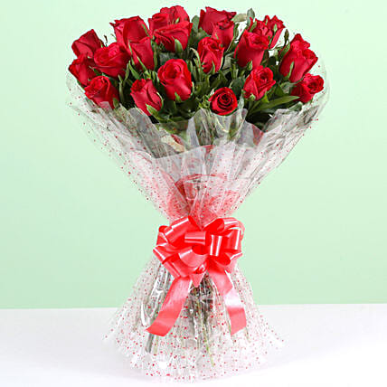 Exotic 24 Red Roses Bouquet