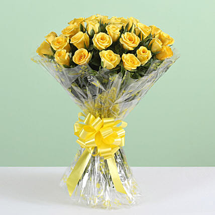 Exotic 24 Yellow Roses Bouquet