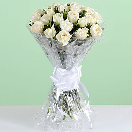 Magical Bouquet Of 24 White Roses