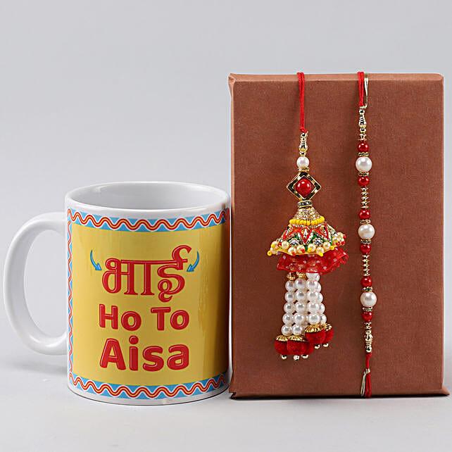 Bhai Ho Toh Aisa Mug n Bhaiya Bhabhi Rakhi Set