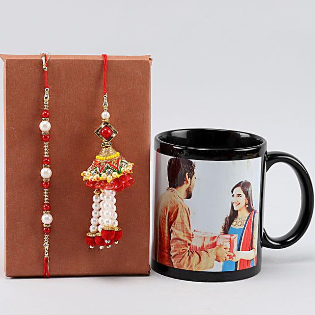 Personalised Black Mug For Bro n Bhaiya Bhabhi Rakhis