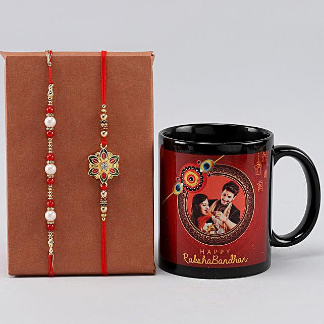Personalised Siblings Mug n Designer Rakhi Set