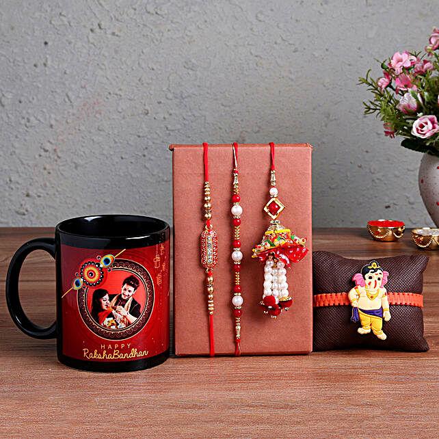 Personalised Siblings Mug n Set Of 4 Rakhis