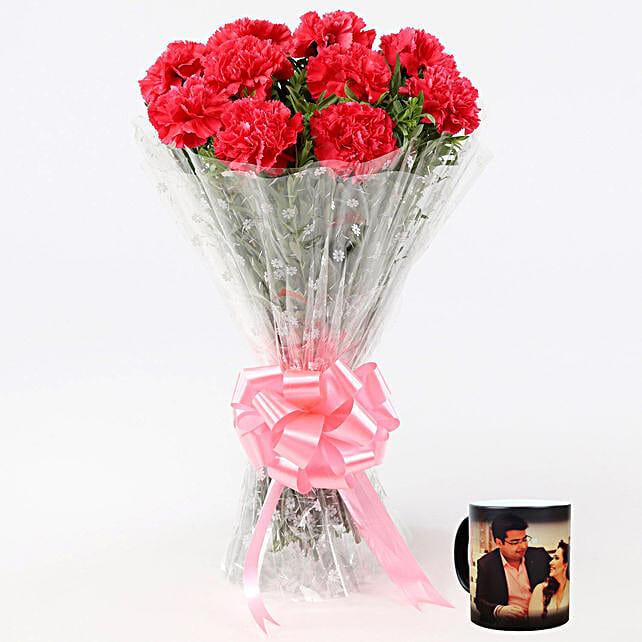 Beautiful Pink Carnations Magic Mug