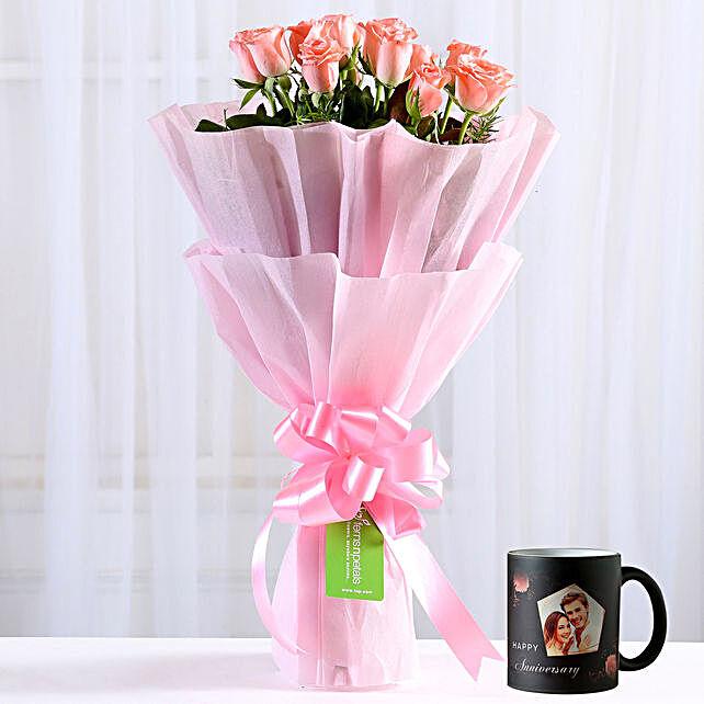 8 Dainty Pink Roses Magic Mug