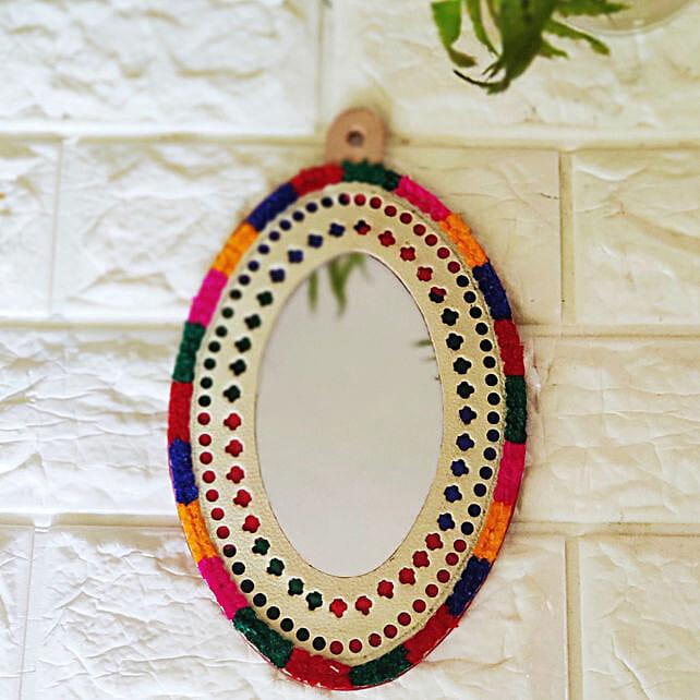 Oval Kutch Mirror Frame