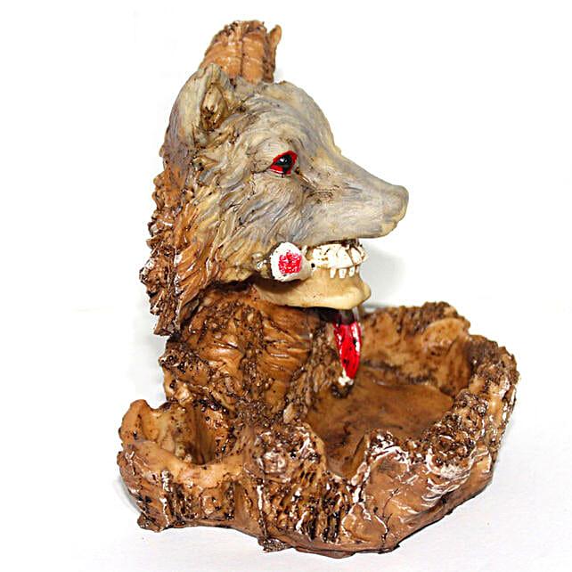 Skull Ashtray Red Indian Tribal Art