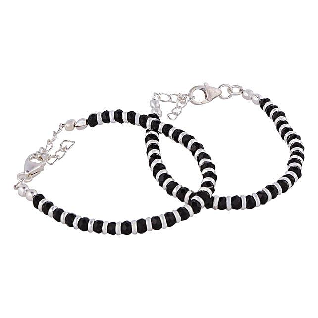 Traditional Silver Nazariya Kadli Bracelet