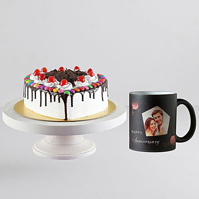 Black Forest Cake n Personalised Magic Mug