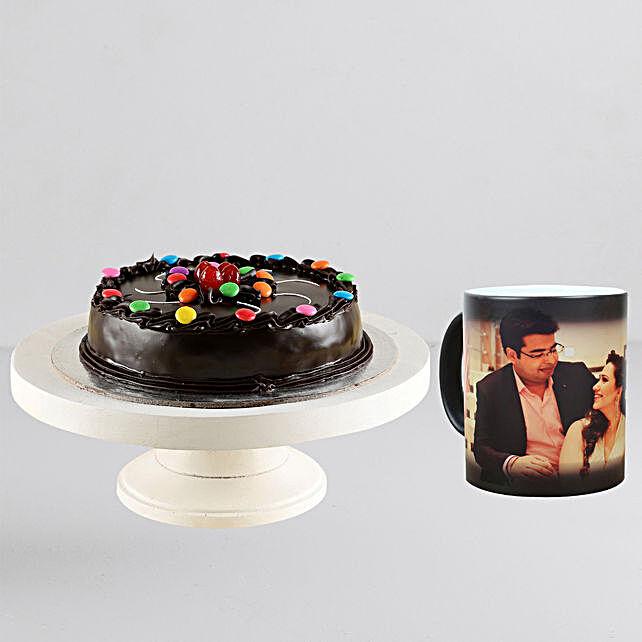 Gems Truffle Cake n Personalised Magic Mug