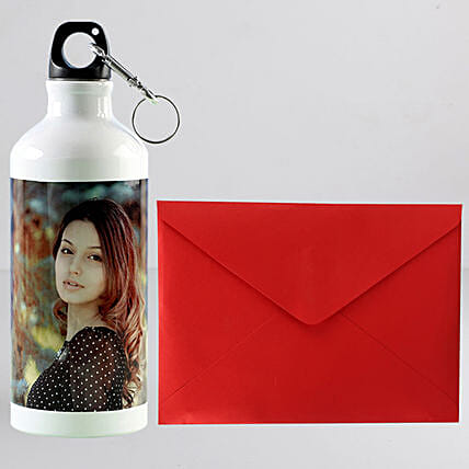 Personalised Bottle With Greeting Card