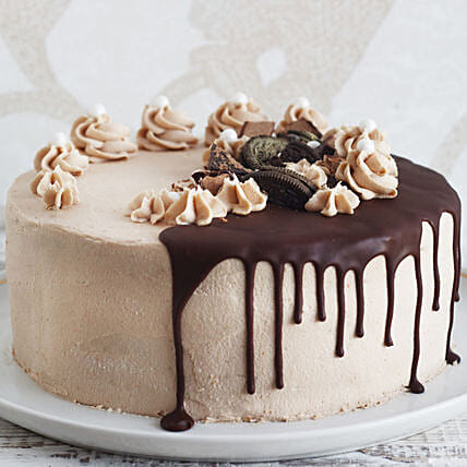 Chocolate Caramel Fudge Cake Half Kg