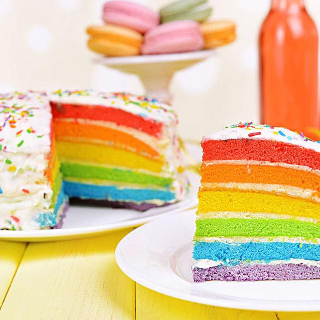 rainbow cake for kids:Designer and Theme Cakes