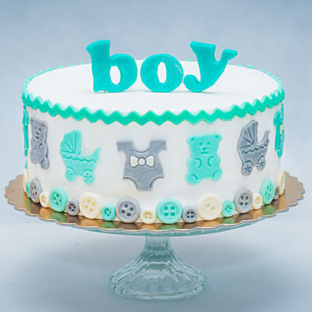 It's A Boy Fondant Chocolate Cake 1 Kg