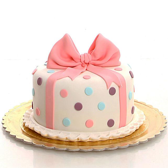 Bow Design Cake Online For Her