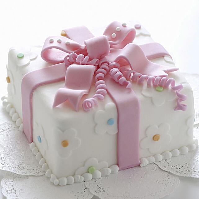 Bow Wrap Designer Cake For Girls