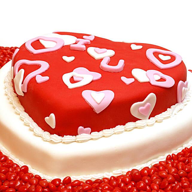 Romantic Heart Shape Cake Online