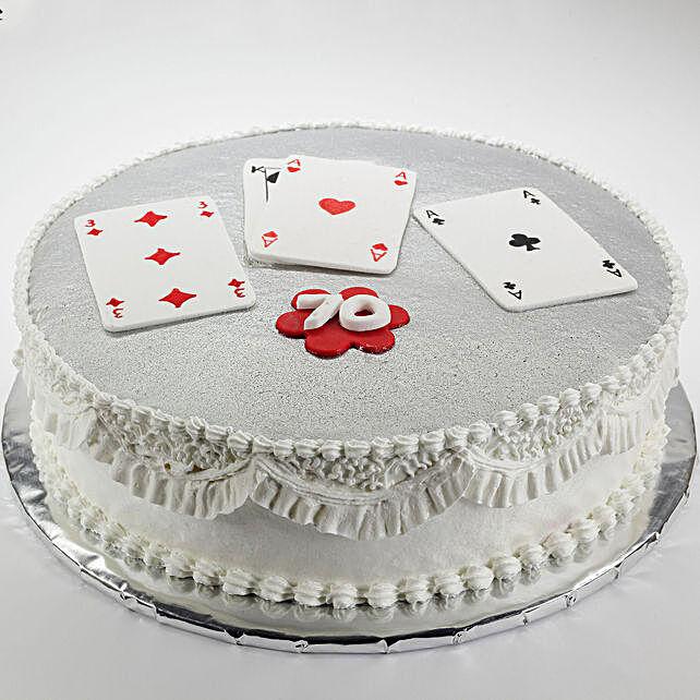 poker theme cake online