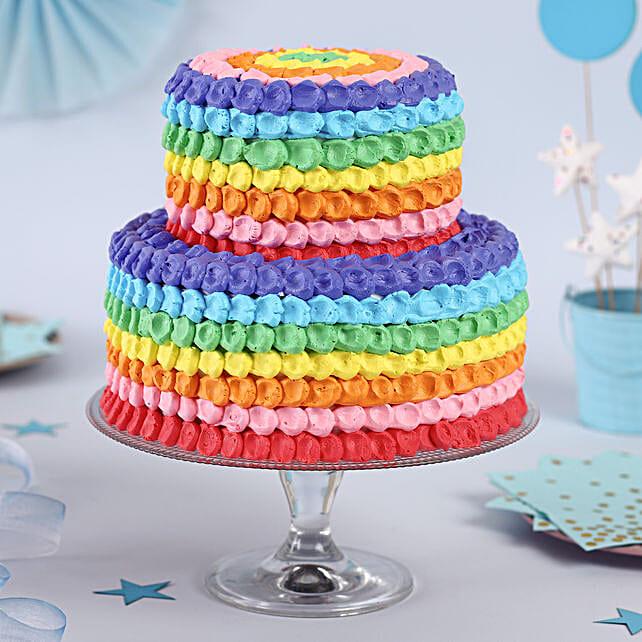 Rainbow Cake For Kids Online:3 Tier Cake