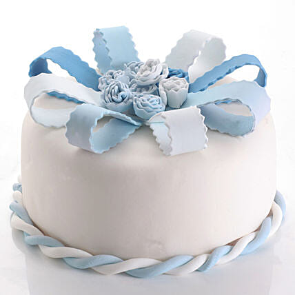 Beautiful Blue and White Cake Online